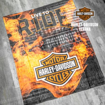 Coperta Harley-Davidson® Org&Blk Silk
