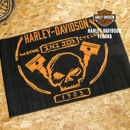 Tappeto Harley-Davidson® Build Willie G Skull Piston