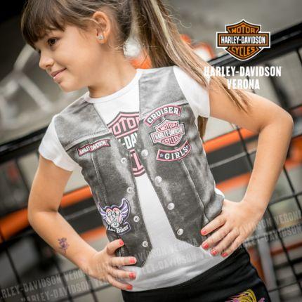 T-shirt bambina Harley-Davidson® con stampa gilet