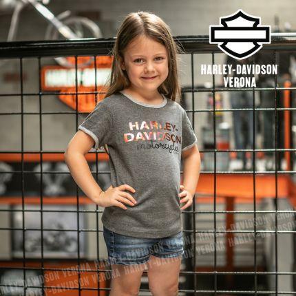 T-Shirt Bimba Harley-Davidson® Scritta