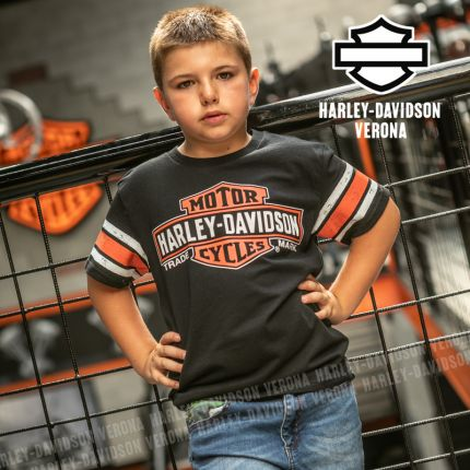 T-Shirt Bimbo Harley-Davidson® Interlock B&S