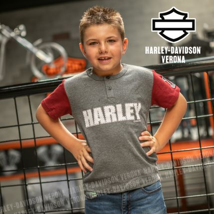 T-Shirt Bimbo Harley-Davidson® Grey Red