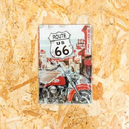 Insegna Metallica Harley-Davidson® ROUTE 66