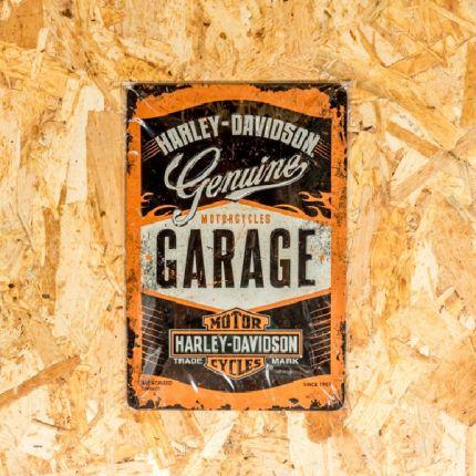 Insegna Metallica Harley-Davidson® Genuine Garage