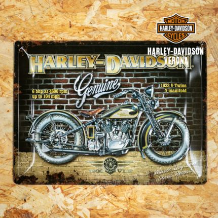 Insegna Metallica Harley-Davidson® Brick Wall