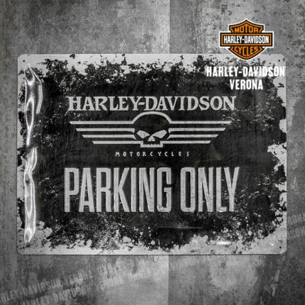 Insegna Metallica Harley-Davidson® Parking Only Grande