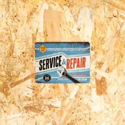 INSEGNA METALLICA SERVICE E REPAIR