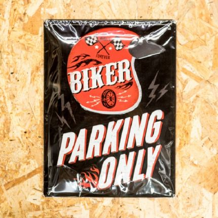 Insegna Metallica Harley-Davidson® PARKING ONLY ROSSO