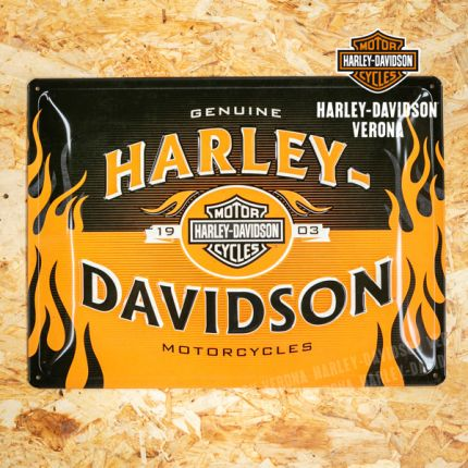 Insegna Metallica Harley-Davidson® Logo Orange