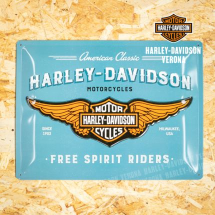 Insegna Metallica Harley-Davidson® Free Spirit Riders