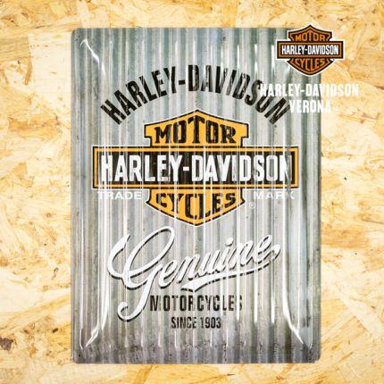 Insegna Metallica Harley-Davidson® American Logo
