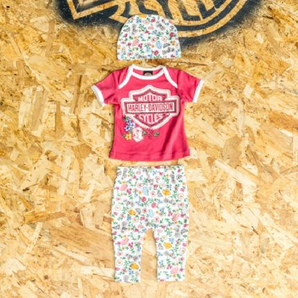 Completino Regalo 3 Pezzi Harley-Davidson® Baby Girl's Glittery