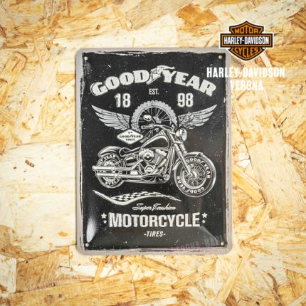 Insegna Metallica Harley-Davidson® GOOD YEAR