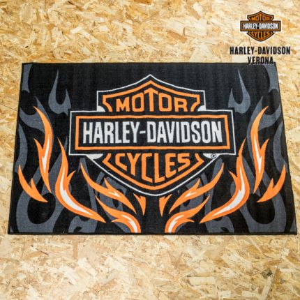 Tappeto Harley-Davidson® Bar & Shield® Rise Up Flames