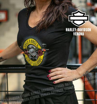 T-Shirt Donna Guns N' Roses Harley-Davidson® Cover