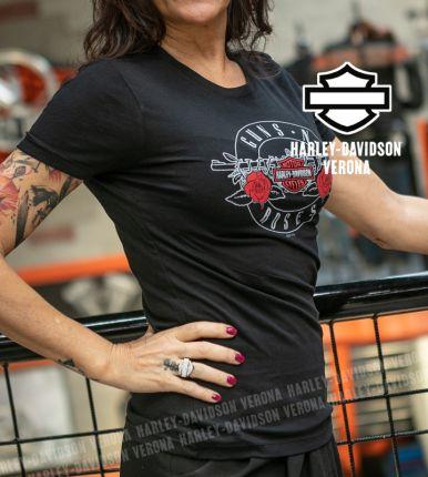 T-Shirt Donna Guns N' Roses Harley-Davidson® Bullet