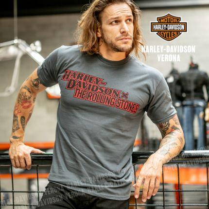 T-Shirt da Uomo Harley-Davidson® Rolling Stones Stacked