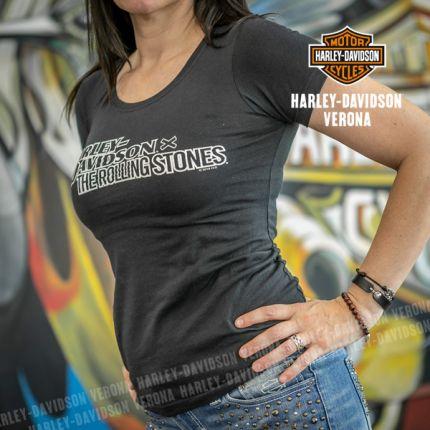 T-Shirt da Donna Harley-Davidson® Rolling Stone Stacked