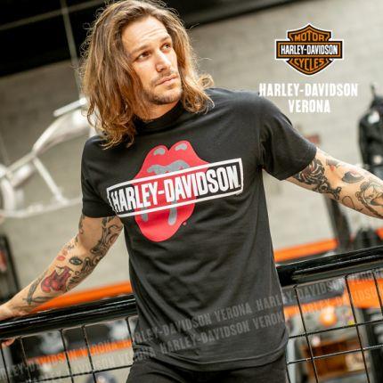 T-Shirt da Uomo Harley-Davidson® Rolling Stones Mash Black