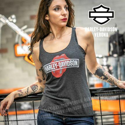 Canotta da Donna Harley-Davidson® Rolling Stones Mash