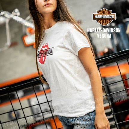 T-Shirt Bimbo Harley-Davidson® Rolling Stones Mash