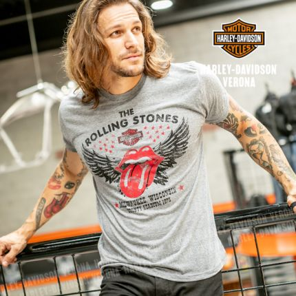T-Shirt Harley-Davidson® Rolling Stones Winged