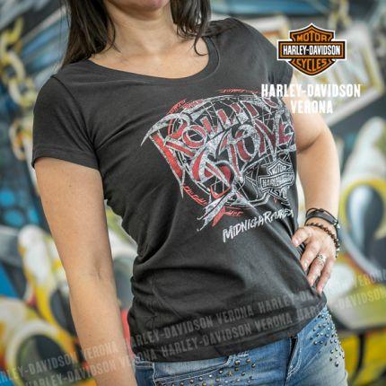 T-Shirt da Donna Harley-Davidson® Midnight Rambler