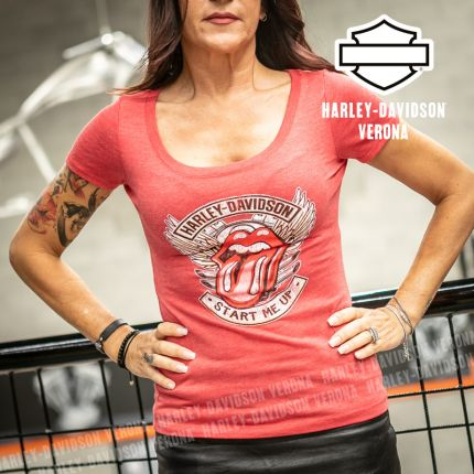 T-Shirt Harley-Davidson® Rolling Stone Start Me Up Red