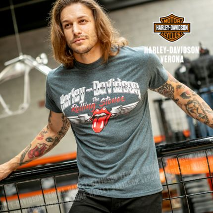 T-Shirt Harley-Davidson® Rolling Stones Chrome Wings