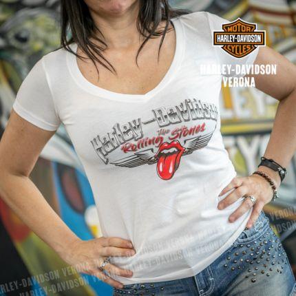 T-Shirt da Donna Harley-Davidson® Rolling Stones Chrome Wings