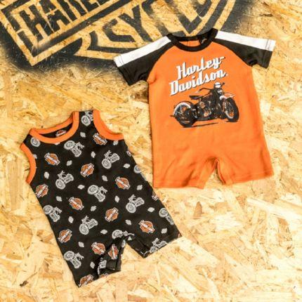 Set 2 Pezzi Tutina Harley-Davidson® Baby Black&Orange