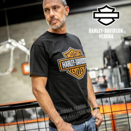 T-Shirt H-D® Verona B&S Orange on Black