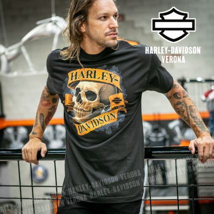 T-Shirt H-D® Verona Skull Banner