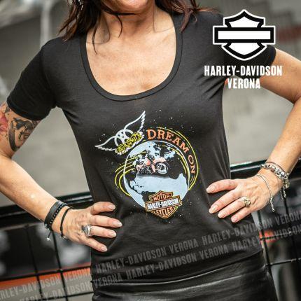 T-Shirt Aerosmith da Donna Harley-Davidson® Dream On