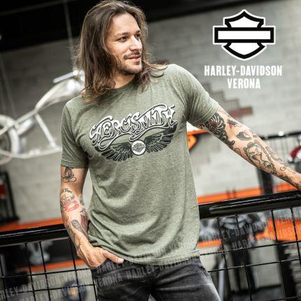T-Shirt Aerosmith Harley-Davidson® Pump Military