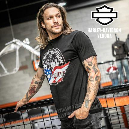 T-Shirt Aerosmith Harley-Davidson® Force One on Black
