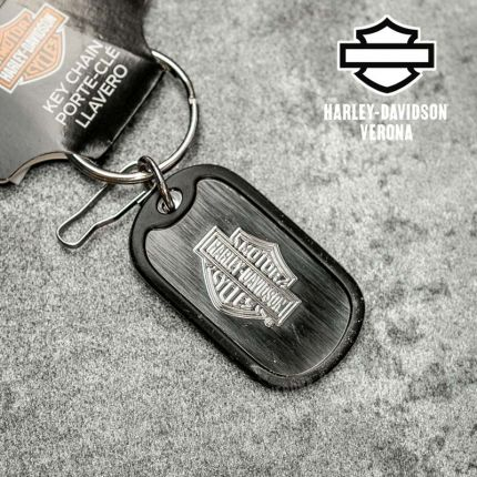 Portachiavi Harley-Davidson® B&S Metal Rubber Tag