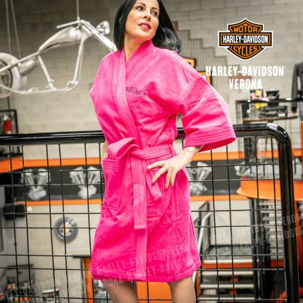 Accappatoio Donna Pink Wings Harley-Davidson®