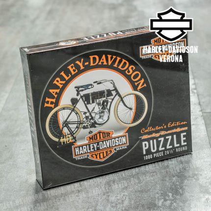 Puzzle Harley-Davidson®Vintage Motorcycle Round