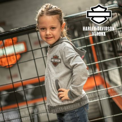 Felpa Bimba Harley-Davidson® Zip Stampa Cangiante