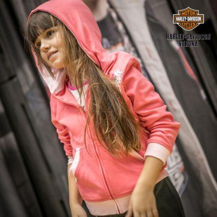 Felpa con Cappuccio Harley-Davidson® Full Zip Pink