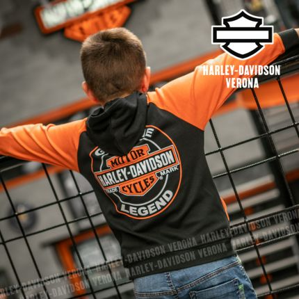 Felpa Harley-Davidson® Black & Orange
