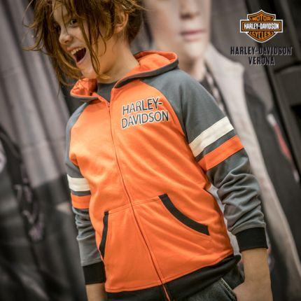 Felpa con Cappuccio Harley-Davidson® Full Zip Orange