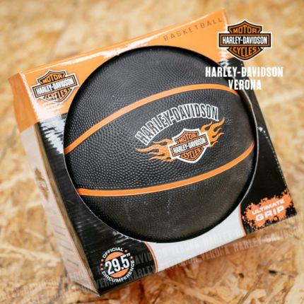 Pallone da Basket Harley-Davidson® , Bar & Shield Flames Logo