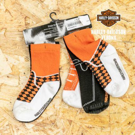 Tris di calzine misura unica antiscivolo Harley-Davidson® 6 -12 anni