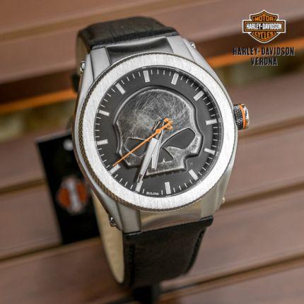 Orologio Harley-Davidson® nero con teschio
