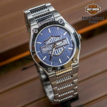 Orologio placcato blu Harley-Davidson®