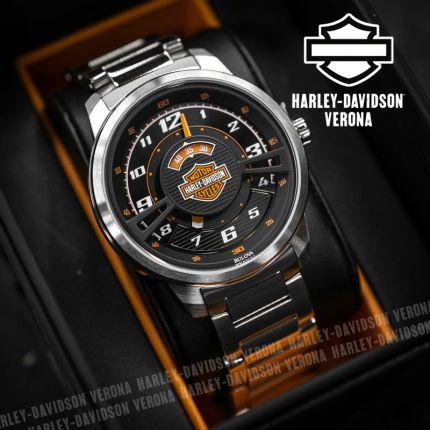 Orologio Harley-Davidson® Black Orange Dial