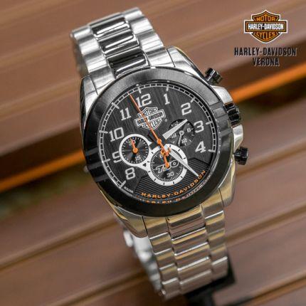 Orologio multistrato nero Harley-Davidson®