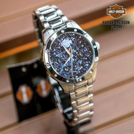 Orologio Harley-Davidson® Swarovski blu
